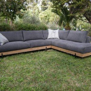 Γωνιακός καναπές Industrial